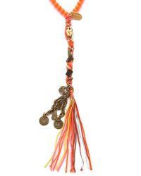 Chan Luu - Orange Rosary Charm Necklace - Lyst