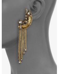 Erickson Beamon - Metallic Bette Encrusted Tassel Drop Earrings - Lyst