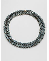 Giles & Brother - Metallic Encrusted Ceres Collar Necklace - Lyst
