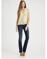 Goldsign | Blue Quinn Mid-rise Bootcut Jeans | Lyst