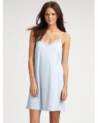 Hanro - White Tonight Long Nightgown - Lyst