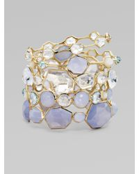 Ippolita | Metallic Clear Quartz and 18k Yellow Gold Bracelet | Lyst
