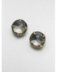 Ippolita - Green 18k Gold Pyrite Doublet Stud Earrings - Lyst