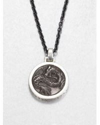 John Hardy | Black Sterling Silver and Stainless Steel Necklace for Men | Lyst