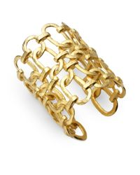 Kenneth Jay Lane - Brown Open Link Cuff - Lyst
