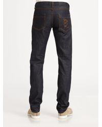 McQ - Blue Skinny Raw Denim Jeans for Men - Lyst