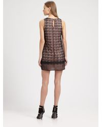 Red Haute - Black Lace Shift Dress - Lyst