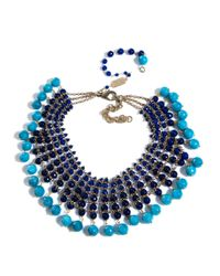 Rosantica | Blue Orchidea Agate and Angelite Necklace | Lyst