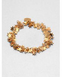 Stella McCartney | Metallic Star Charm Bracelet | Lyst