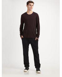 T By Alexander Wang - Black Brushed Ponte Sweatpants for Men - Lyst