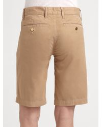 Tory Burch | Natural Bermuda Chino Walking Shorts | Lyst