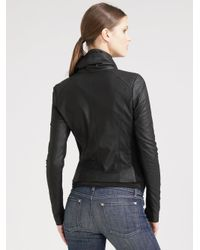 Vince - Black Scuba Leather Jacket - Lyst