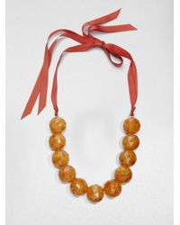 Weekend by Maxmara - Orange Pace Chunky Necklace - Lyst