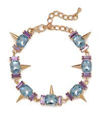 BaubleBar - Blue Gem Spike Bracelet - Lyst