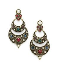Ben-Amun | Multicolor Byzantine Chandelier Earrings | Lyst