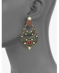 Ben-Amun - Multicolor Byzantine Chandelier Earrings - Lyst