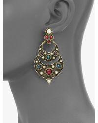 Ben-Amun | Multicolor Byzantine Chandelier Earrings | Lyst