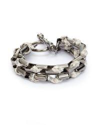Kara Ross - Multicolor Python Skin Cord Bracelet - Lyst