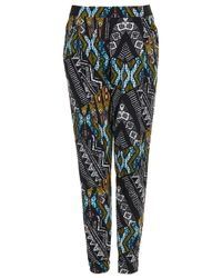 Topshop | Multicolor African Jersey Tapered Trousers | Lyst