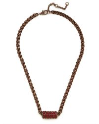 BaubleBar - Brown Chunky Ruby Bar Pendant - Lyst