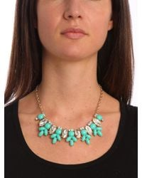 BaubleBar - Green Teal Marquise Bloom Bib - Lyst