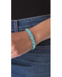 Chan Luu - Blue Turquoise Beaded Bracelet - Lyst