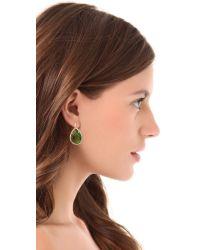 Juicy Couture - Green Pave Teardrop Earrings - Lyst