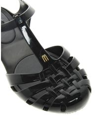 Melissa - Black Aranha Hits Tbar Flat Sandals - Lyst