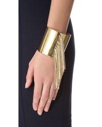 Michael Kors | Metallic Seaside Luxe Fringe Cuff | Lyst