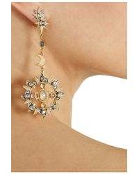 Percossi Papi | Metallic Goldplated Topaz Moonstone and Sapphire Earrings | Lyst