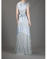 Temperley London - Blue Silk Panel Dress - Lyst
