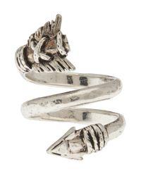 Aurelie Bidermann | Metallic Double Loop Arrow Ring | Lyst