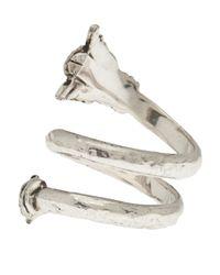 Aurelie Bidermann - Metallic Double Loop Arrow Ring - Lyst