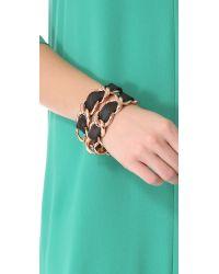CC SKYE - Black Double Wrap Bracelet - Lyst