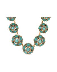 kate spade new york | Metallic Belle Fleur Collar Statement Necklace | Lyst