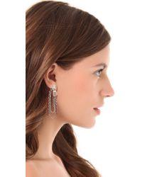 Marc By Marc Jacobs - Metallic Studs Zip Pull Draped Earrings - Lyst