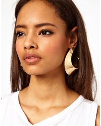 ASOS - Metallic Swirl Earring - Lyst