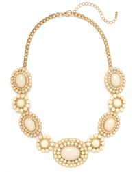 BaubleBar | Metallic Ivory Sunbloom Necklace | Lyst