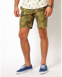 Native Youth - Green Camo Shorts for Men - Lyst