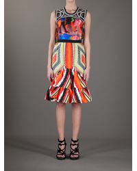 Peter Pilotto - Multicolor Short Sofia Skirt - Lyst
