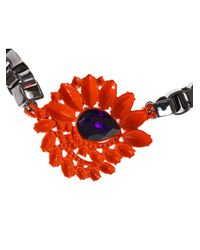 Mawi - Metallic Neon Flower Necklace - Lyst