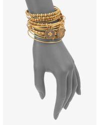 ALEX AND ANI - Metallic Expandable Wire Bracelet Set - Lyst
