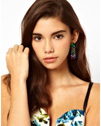 ASOS Collection | Multicolor Asos Jewel Swing Earrings | Lyst