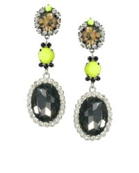 ASOS Collection | Yellow Asos Neon Blast Gem Drop Earring | Lyst