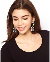 ASOS Collection - Yellow Asos Neon Blast Gem Drop Earring - Lyst