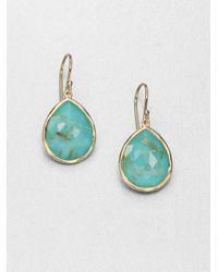 Ippolita - Blue 18k Gold Turquoise Doublet Drop Earrings - Lyst