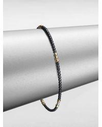 Mizuki | Metallic Sterling Silver 14k Gold Beaded Bracelet | Lyst