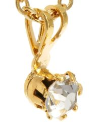 ASOS - White Vintage 80s Diamante Drop Necklace - Lyst