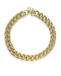 1AR By Unoaerre - Metallic Textured Twisted Link Necklace - Lyst