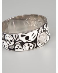 Alexander McQueen - Black 'skull' Bangle - Lyst